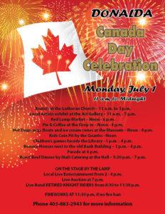 Canada Day Celebrations @ Donalda