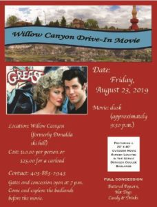 Drive In Movie-CASH Only Event @ Willow Canyon